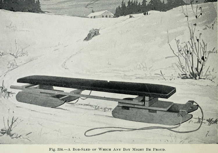 Fig. 554. A Bob-Sled of Which Any Boy Might Be Proud.