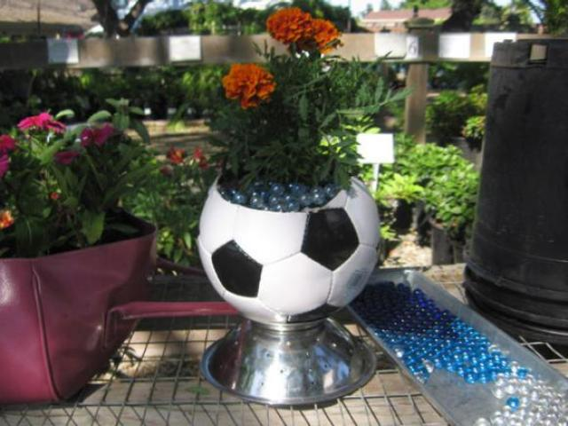 Image result for DIY flowerpot sport ball
