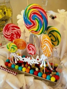 diy lollipop sucker candy centerpiece wedding shower