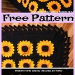 Crochet Sunflower Blanket Free Pattern Diy 4 Ever