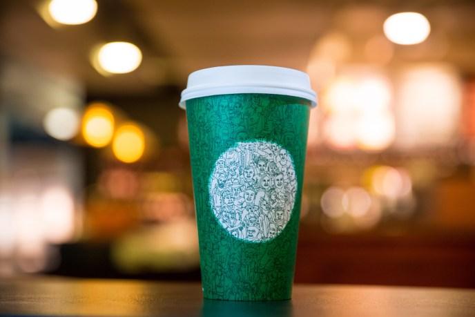 Starbucks cup photographed on October 26, 2016. (Joshua Trujillo/Starbucks)