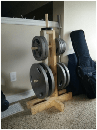 Build it diy weight tree for around 20 diy active for Diy squat rack metal
