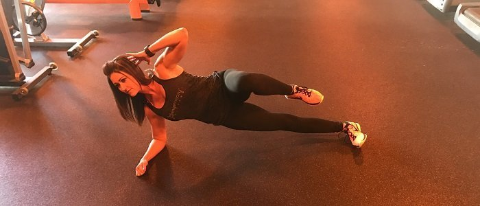 Love Your Body, Lose Your Love Handles side plank crunch