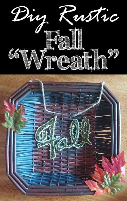 DIY Rustic Fall Door Wreath