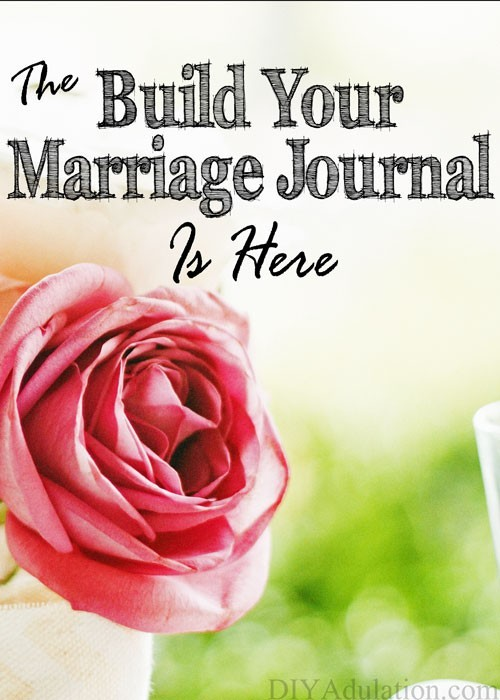 The Build Your Marriage Journal is a tool to help you and your spouse reopen and/or deepen the lines of communication between each other one week at a time.
