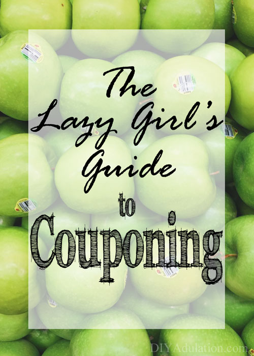 Don't accept paying full price for groceries! Instead use this easy lazy girl's guide to couponing I created just for you.