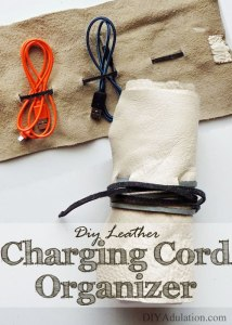 DIY Leather Charging Cord Organizer
