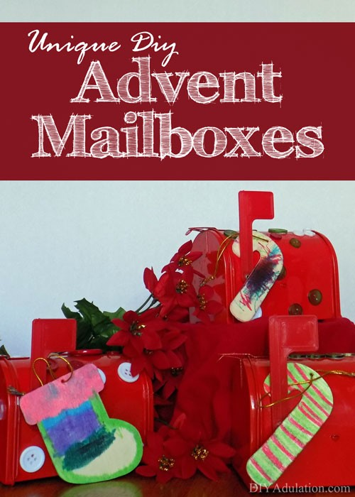 Unique DIY Advent Mailboxes