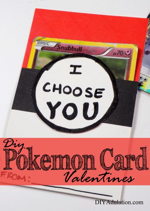DIY Pokemon Card Valentines