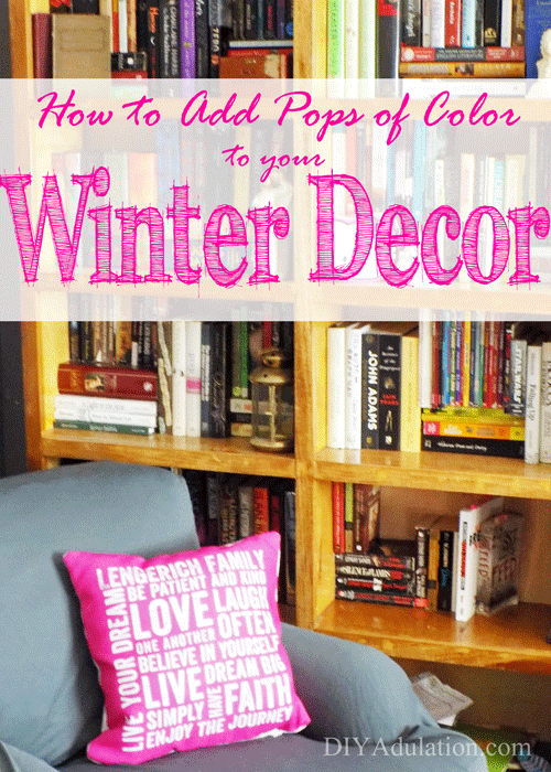 If you are suffering from the winter blues, bring the color inside your home. I'm sharing some easy tips for how to add pops of color to your winter décor. #ad