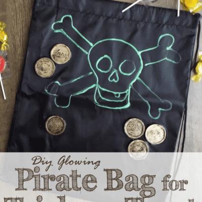DIY Glowing Pirate Trick-or-Treat Bag