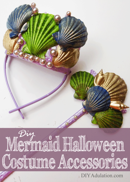 DIY Mermaid Halloween Costume Accessories