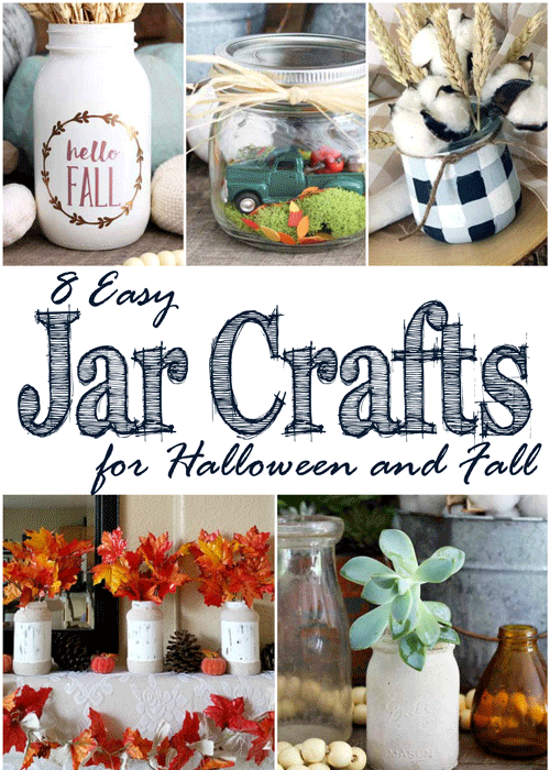 "These 8 easy jar crafts for Halloween and fall prove that creativity and ingenuity go hand-in-hand. They will make you think, ""Omgosh, that is so clever!"""