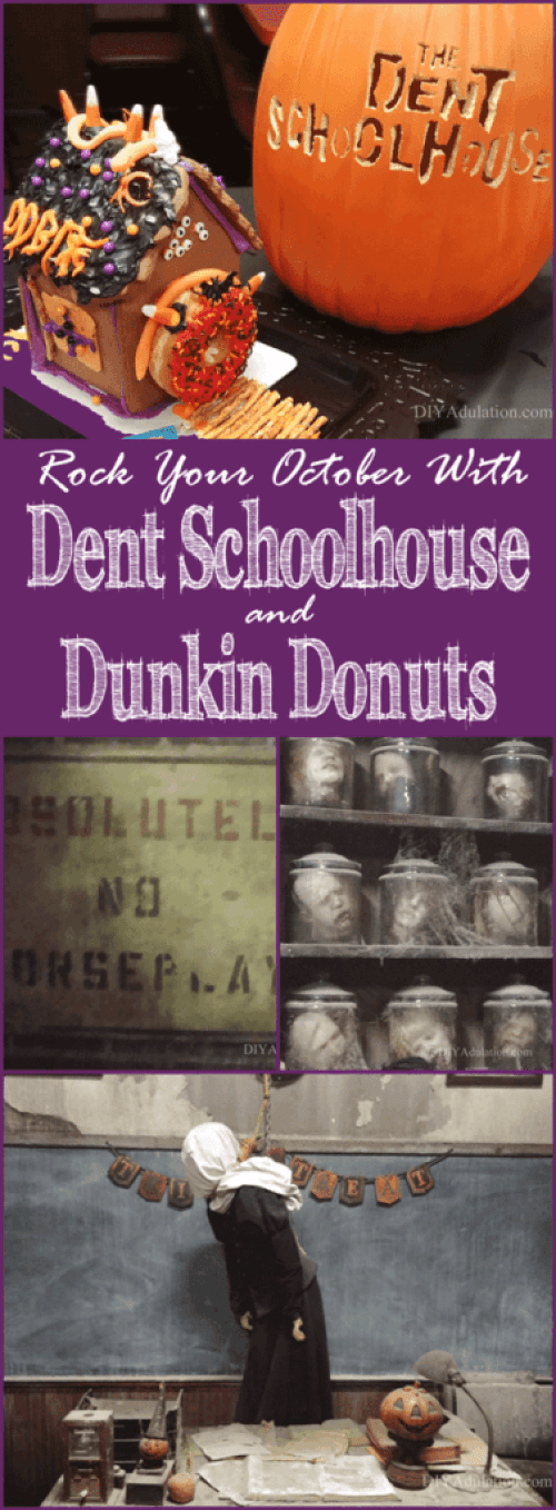 Go behind-the-scenes at one of the top rated haunted houses in the country! Then find out how to rock your October with Dent Schoolhouse and Dunkin Donuts! #ad #ddcincy