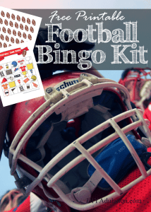 Free Printable Football Bingo Kit :: Movie Monday Challenge