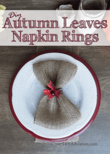 DIY Beaded Autumn Leaves Napkin Rings