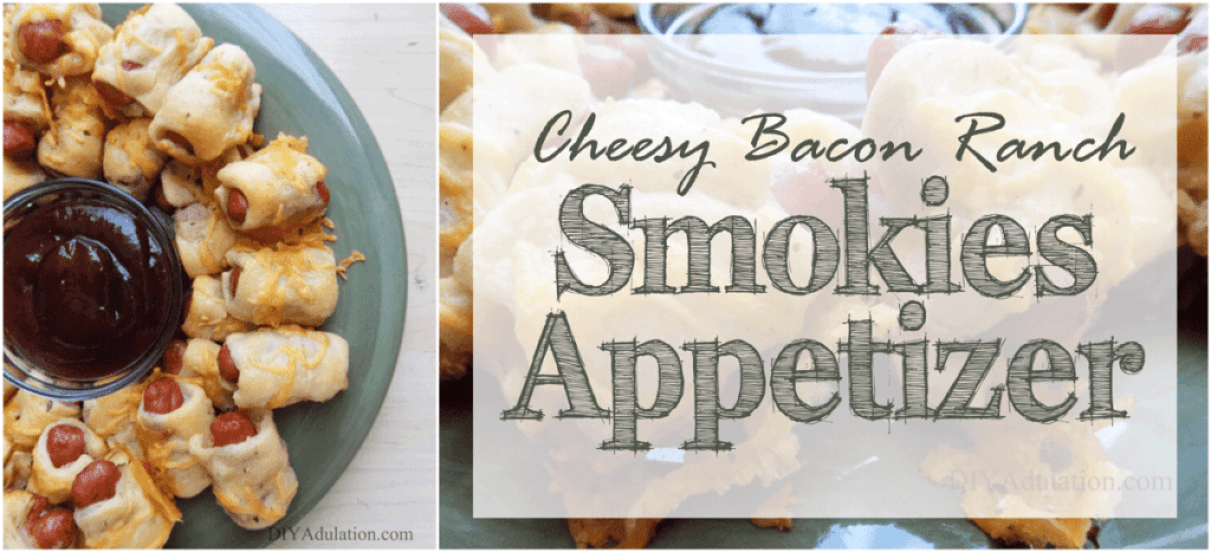 Are you looking for an easy appetizer to serve at your next party? These cheesy bacon ranch smokies are a seriously easy and delicious way to feed a crowd!