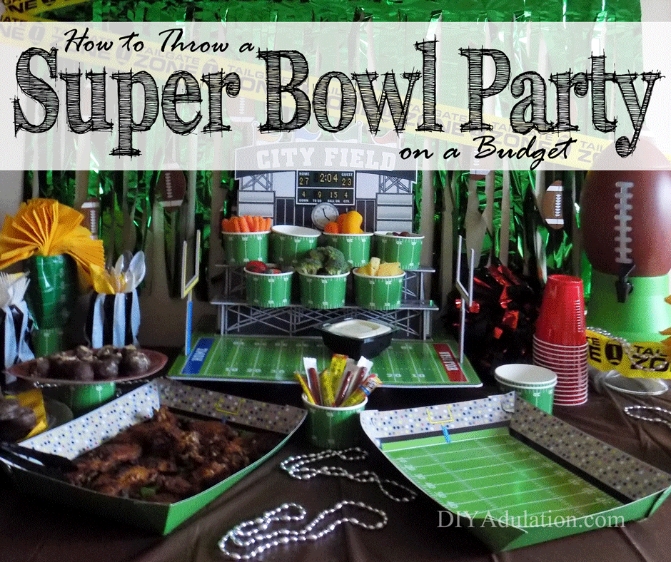 Save money and celebrate the big game with these easy tips to throw a Super Bowl party on a budget. Spoiler: it starts with shopping at the right place and getting creative! #ad
