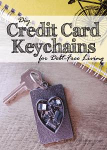 DIY Credit Card Keychains for Debt Free Living