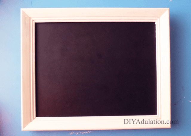 White Frame with Chalkboard