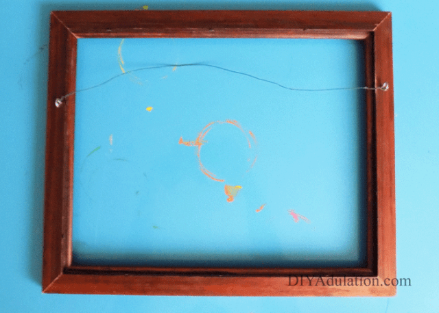 Empty Wooden Thrift Store Frame
