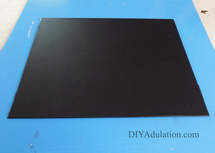 Glass Insert Covered in Chalkboard Contact Paper