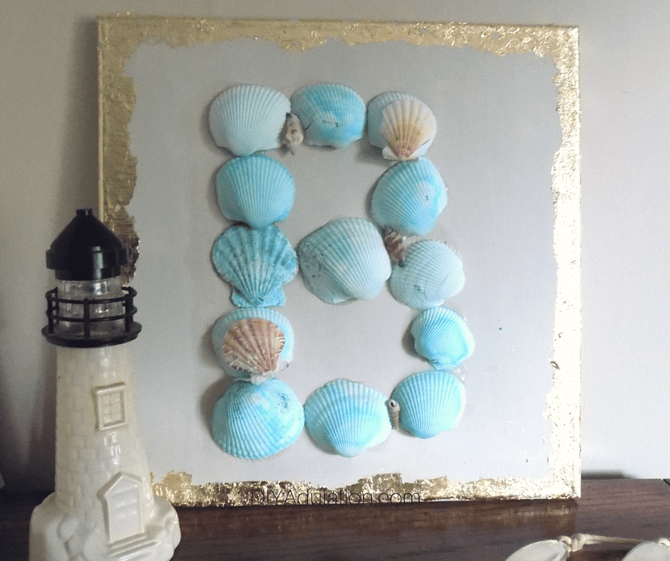 Seashell Monogram Wall Art