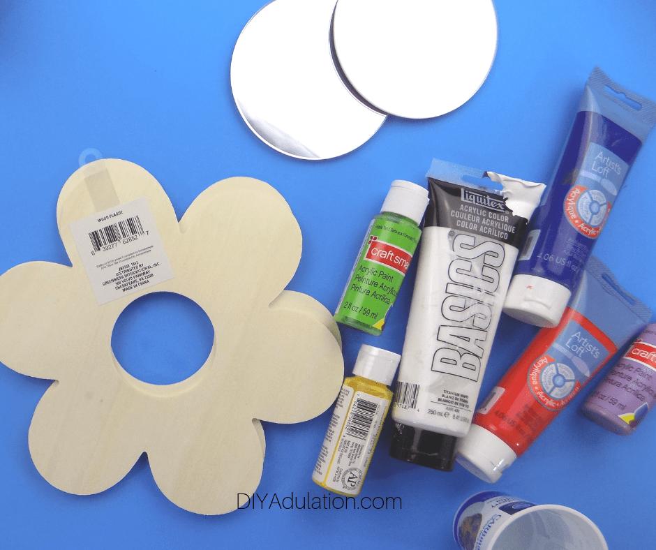 DIY Flower Mirrors Materials