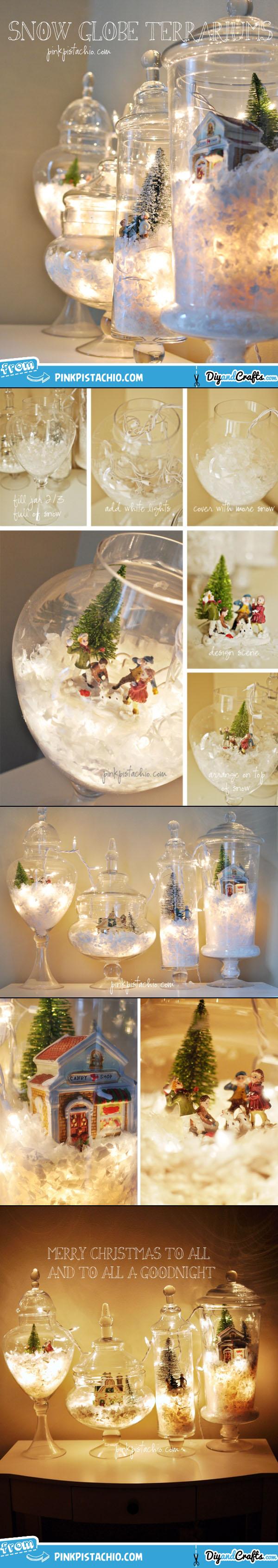 Snow Globe Terrariums | DIY