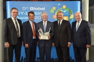Da sx Ralf Rahmede, Reinhard Wolf, Gregory M. Bridgeford di Lowe's, Sergio Giroldi di OBI AG, John Herbert