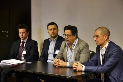 Da sinistra: Luca Gaudenzi e Ivan Bartolucci, rispettivamente marketing manager e general manager di MADE4DIY; Roberto Fadda, presidente di BricoLife; Paolo Micolucci, direttore acquisti di Brico io.