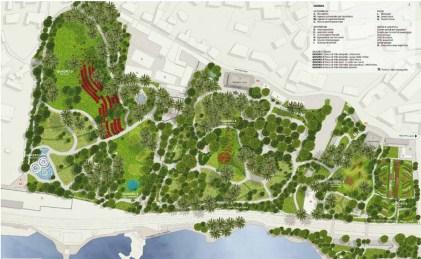Genova Parchi di Nervi - Planimetria Generale (rendering)