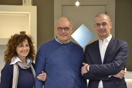 Il direttore commerciale Bricoio Paolo Micolucci con Paolo Cesaretto e consorte, di Mondobrico