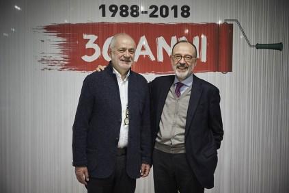 L'attuale ad di Bricoio Danilo Villa e il precedente Consigliere Mario Aspesi
