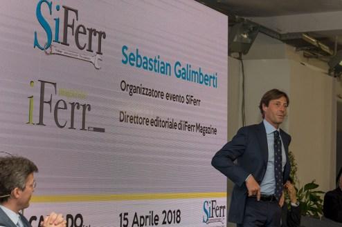 Napoli, Siferr 2018 - l'oranizzatore Sebastian Galimberti
