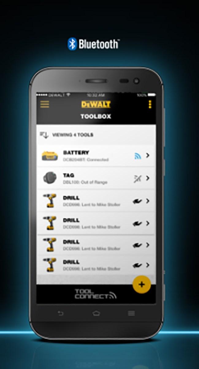 piattaforma DeWALT Tool Connect