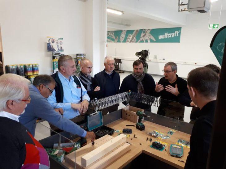 Gli agenti della Wolfcraft italiana in visita alla sede di Kempenich in Germania