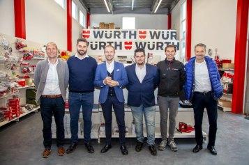 Lo staff del negozio Würth a Mules