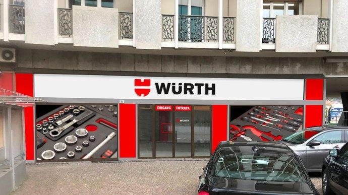 Il negozio Würth a Bolzano centro