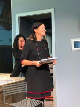 La moderatrice, Laura Borghini, responsabile comunicazione interna e istituzionale Leroy Merlin