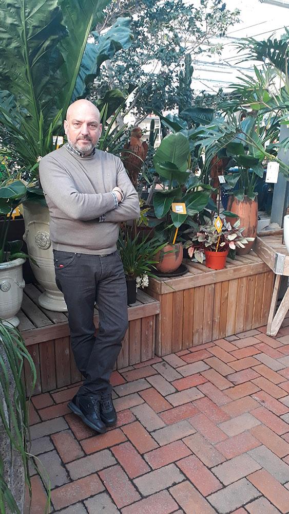 Ugo Toppi, titolare del Centro del Verde Toppi