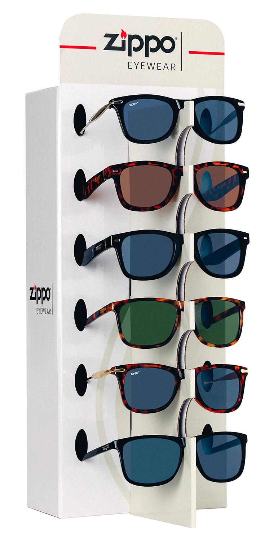 espositore occhiali zippo