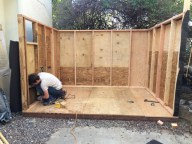 Shed by Ron and George, Hollywood, CA - under construction