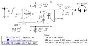 DIY TDA2050 HiFi Chip Amplifier (chipamp)