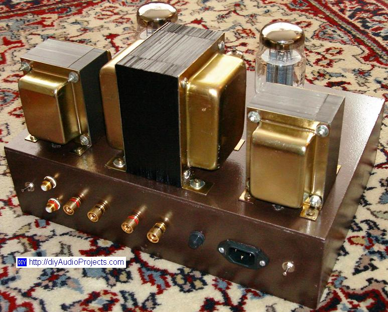 Single Ended Se Kt88 Tube Amplifier Schematic With 6n1p