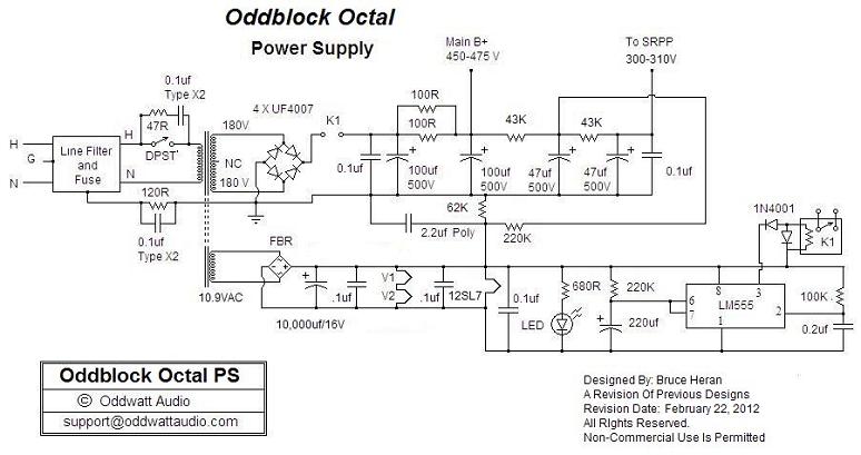 12SL7 KT88 Push Pull Valve Amp Power Supply Schematic s 360 12 power supply wiring diagram diagram wiring diagrams for s-360-12 power supply wiring diagram at bayanpartner.co