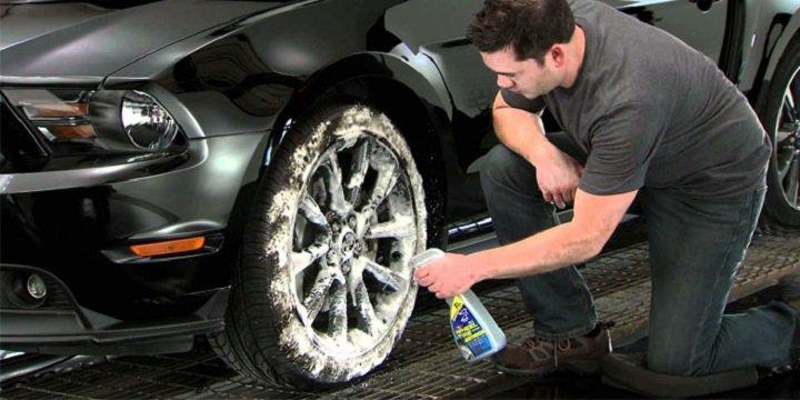 apply wheel cleaner