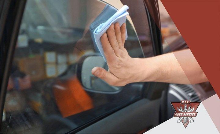 Clean Tinted Car Windows