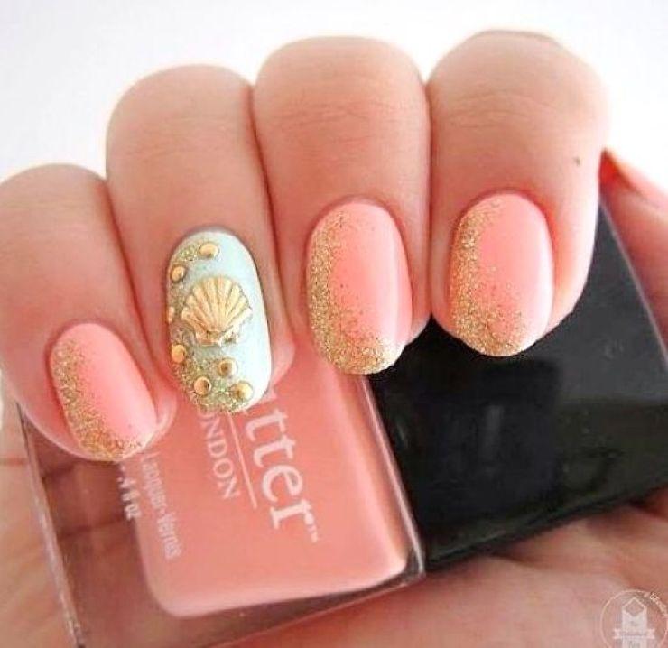 sea shell nail art