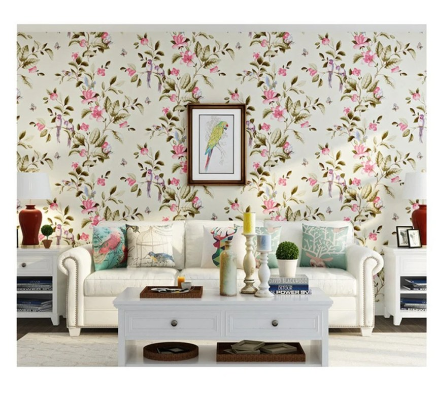 This modern non-woven fabric bird wallpaper is so lovely and combines the perfect blend of old and new.